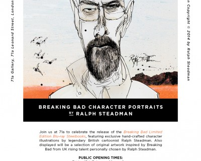 Breaking Bad Character Portraits by Ralph Steadman