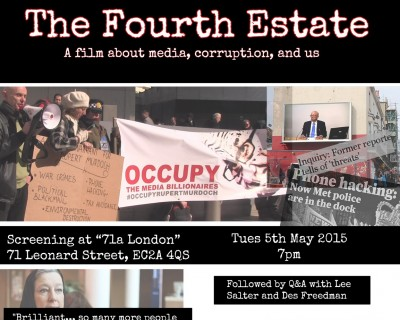 Film | The Fourth Estate | Tuesday 5 May, 7pm