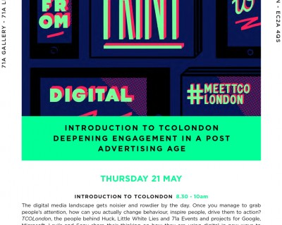 DIGITAL SHOREDITCH FESTIVAL | OPEN HOUSE DAY | THURSDAY 21 MAY